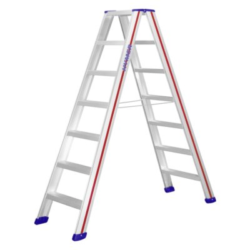 Hymer Stufenstehleiter 6024, max. Arbeitshöhe: 333 cm