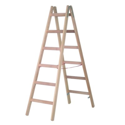 Hymer Holz-Sprossenstehleiter, max. Arbeitshöhe: 425 cm