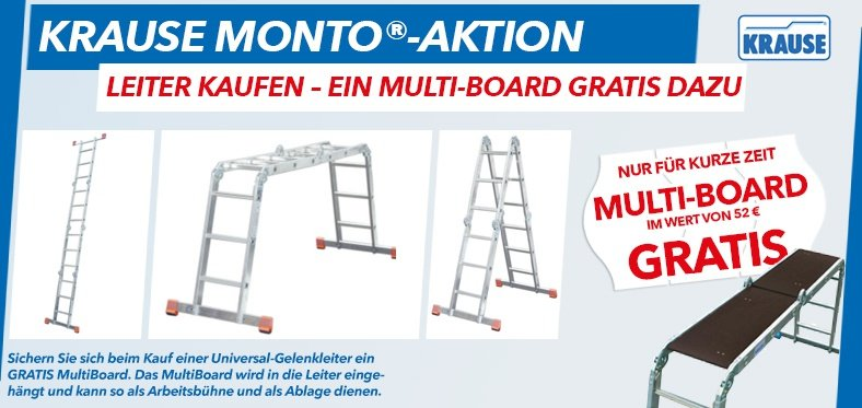 Krause-Leitern Monto-Aktion